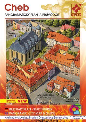 Panoramatický plán a obrazový průvodce nakladatelství M´PLAN, městem Cheb