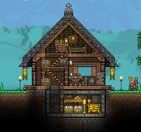 Pc Ballin Houses By Eiv Terraria House Ideas Terraria House