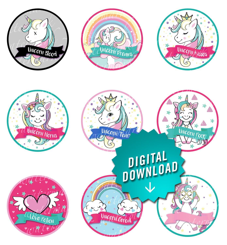 Unicorn slime labels prints on avery 22807 sticker labels unicorn slime labels
