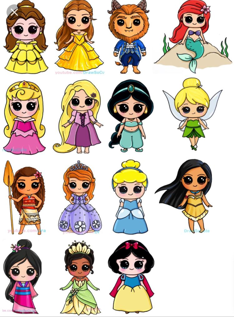 Disney Princess Draw So Cutes Desenhos Kawaii Tumblr