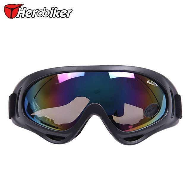 ecb6d19c43b6 HEROBIKER Outdoor Ski Snowboard Airsoft Paintball Protective Glasses  Motocross Off-Road Motorcycle Riding UV400 Goggles Eyewear