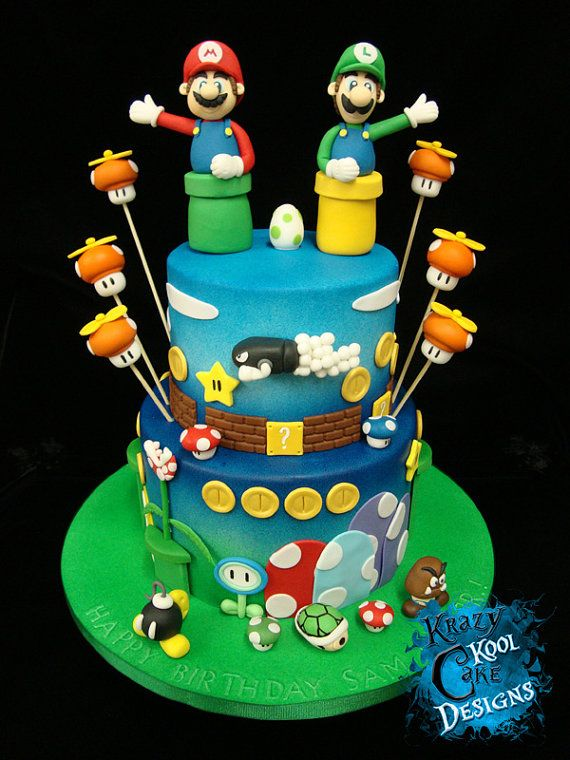super mario bros cake decorations