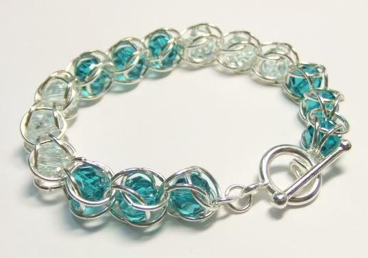 chain maille swarovski bracelet