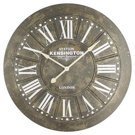 40 Round Wall Clock Distressed Iron Yosemite Home Decor Wall Clock Oversized Wall Clock Large Iron Wall Clock