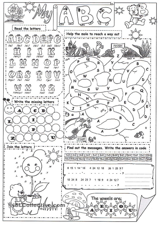 My Abc Abc Worksheets Alphabet Worksheets Worksheets [ 1440 x 1018 Pixel ]