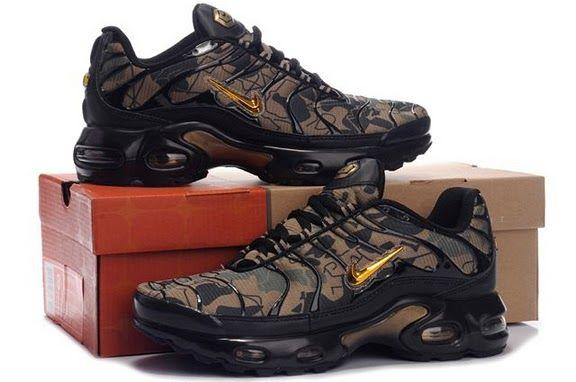 Air Max TN Mens In Black Gold Gray