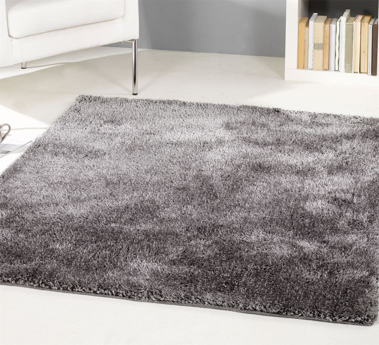 Grande Vista Grey Mix Rug. Shaggy Rugs