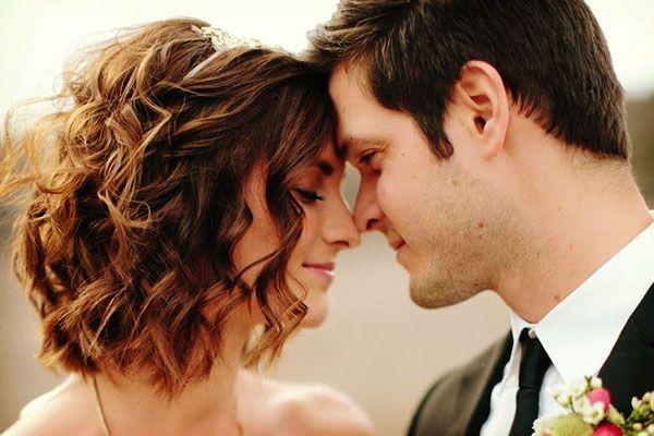 peinado de novia con pelo corto bodas inspiracin