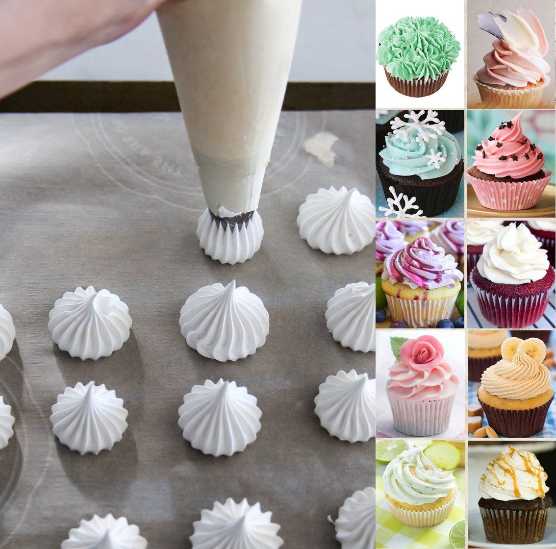 Amazon Com Cake Decorating Icing Piping Tip Set 8 X Large Decorating Tips For Cakes 10 Thic Cake Decorating Supplies Cupcake Decorating Tips Cake Decorating