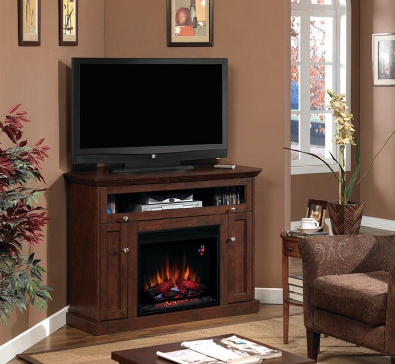 Ikea Corner TV Stand ... | plug in fireplaces | Pinterest | Corner fireplace tv stand