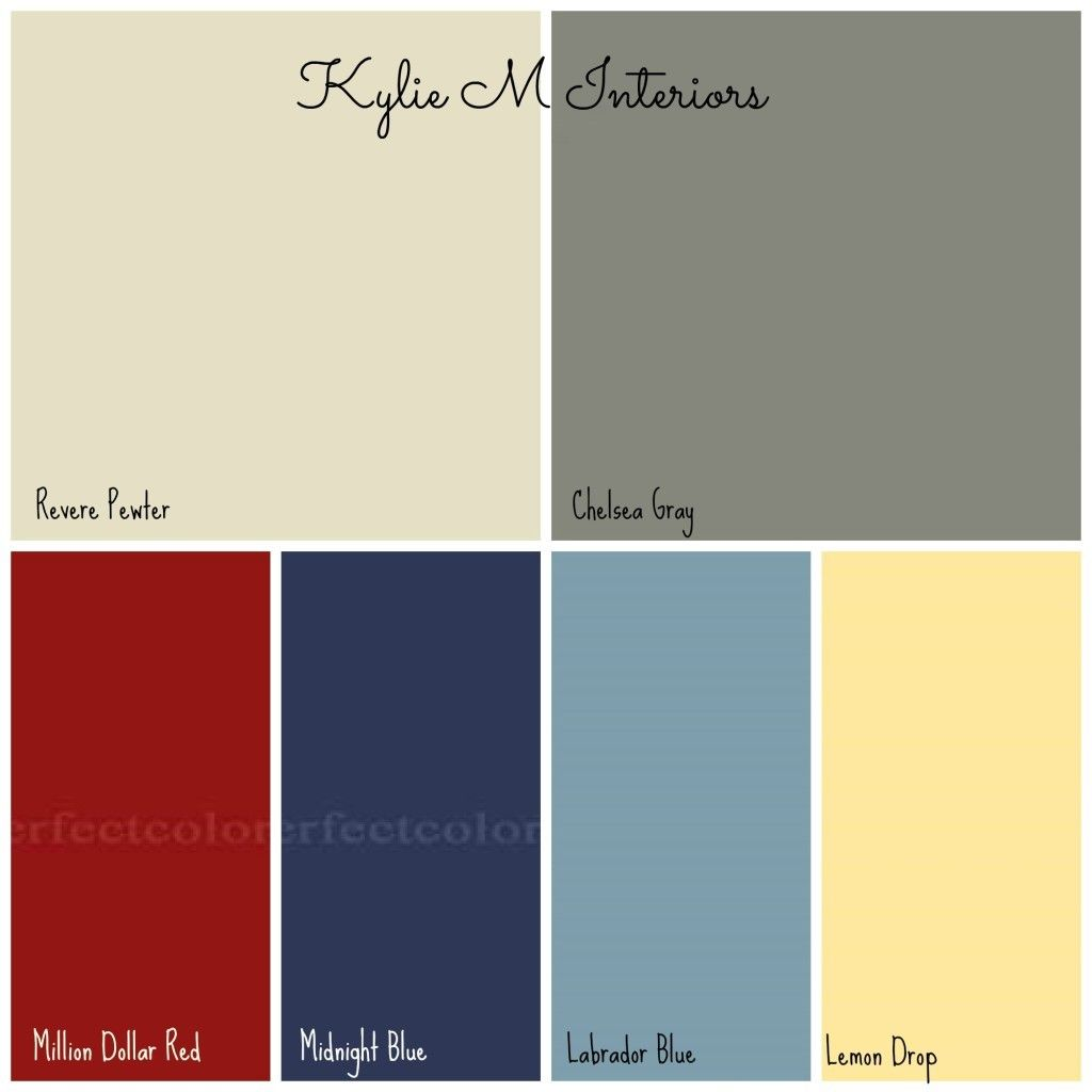 gray and blue paint colour palette for boys bedroom-links ...