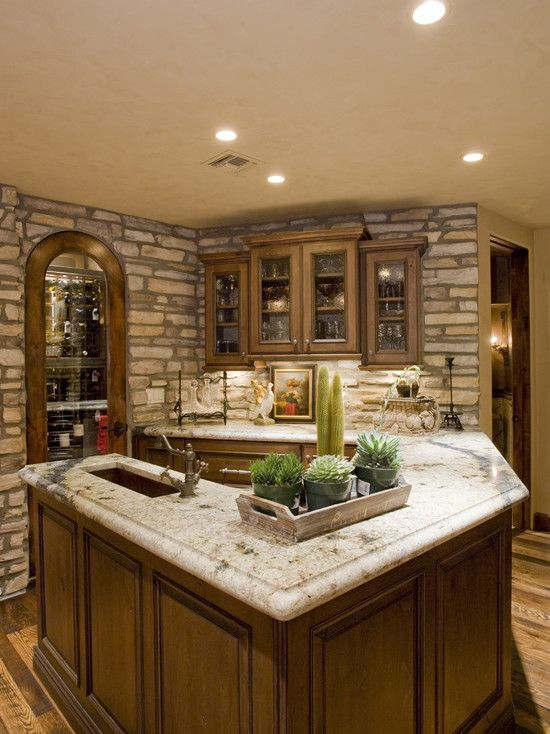 Idea for a small bar kitchen area basement finishing ideas for Lounge area ideas