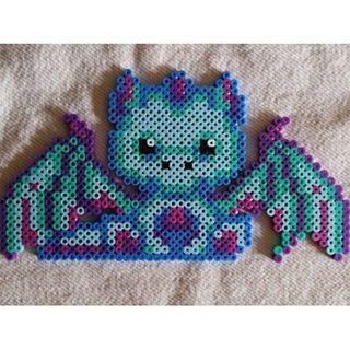 Pin by Sarah Stevenson on Dragon | Perler beads, Melty bead