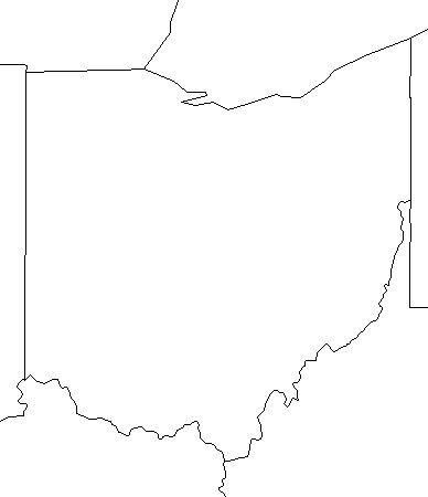 Outline Map Of Ohio.Blank Ohio Outline Map With Surrounding States School Social