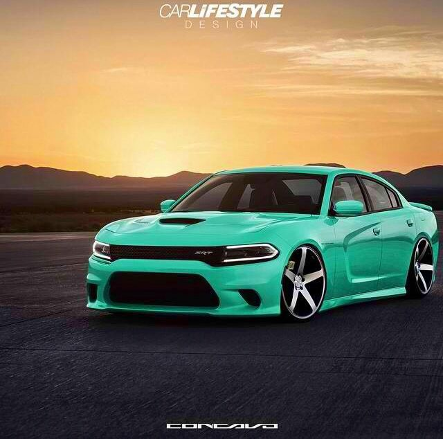 Love This Mint Green Color On This Charger Dodge Charger Hellcat Dodge Charger Dodge Srt