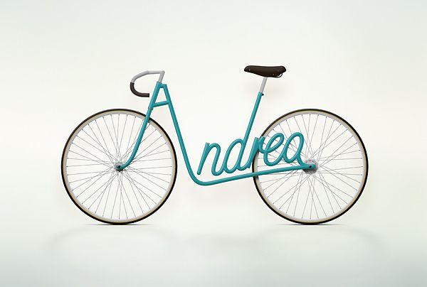 [타이포그래피/그래픽디자인] 자전거 프레임이 타이포그래피 - Write a Bike :: 네이버 블로그
