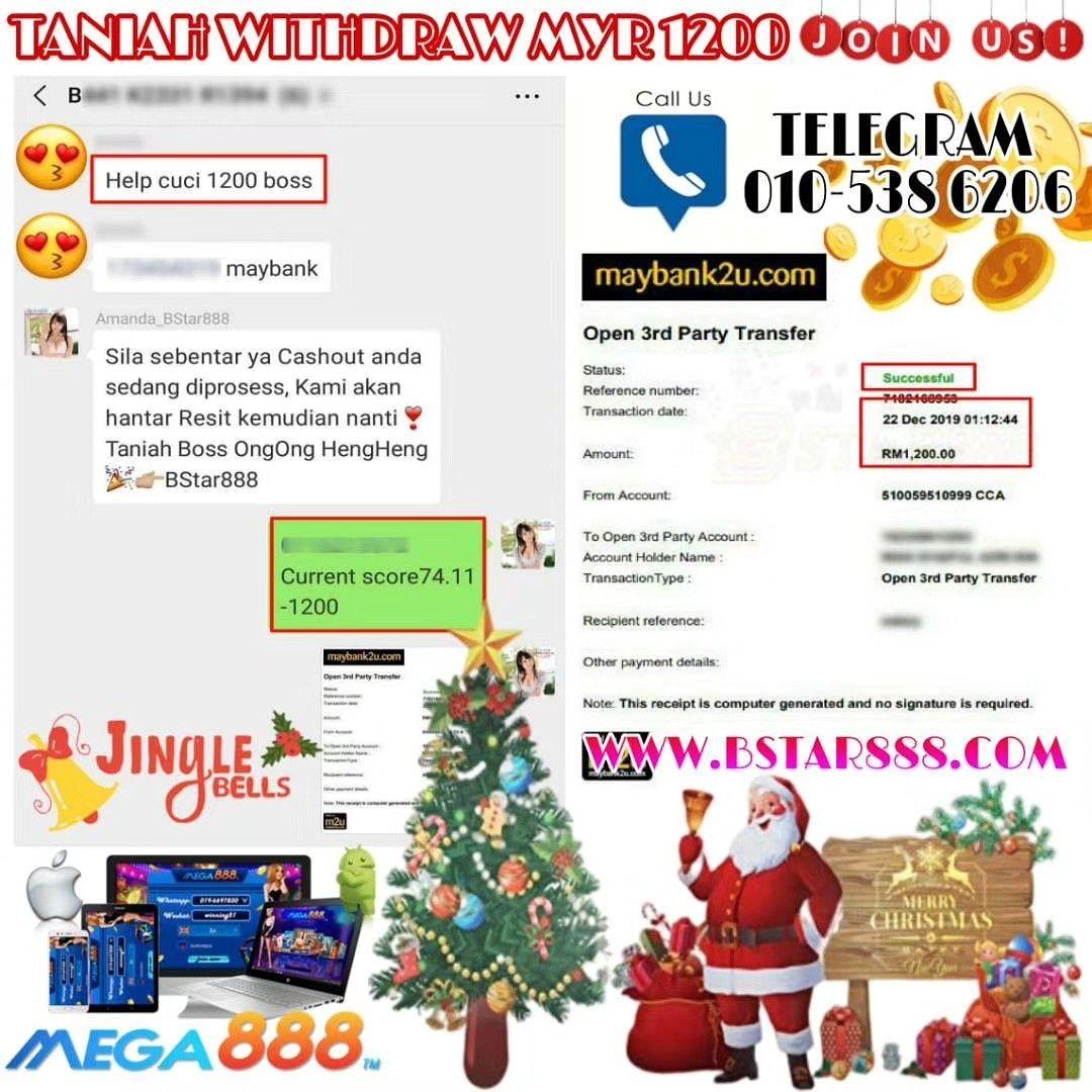 WITHDRAW RM1200 SIGN UP NOW! Welcome Bonus 30% - 50% Telegram: 010-5386206 Wechat: billionstar88…