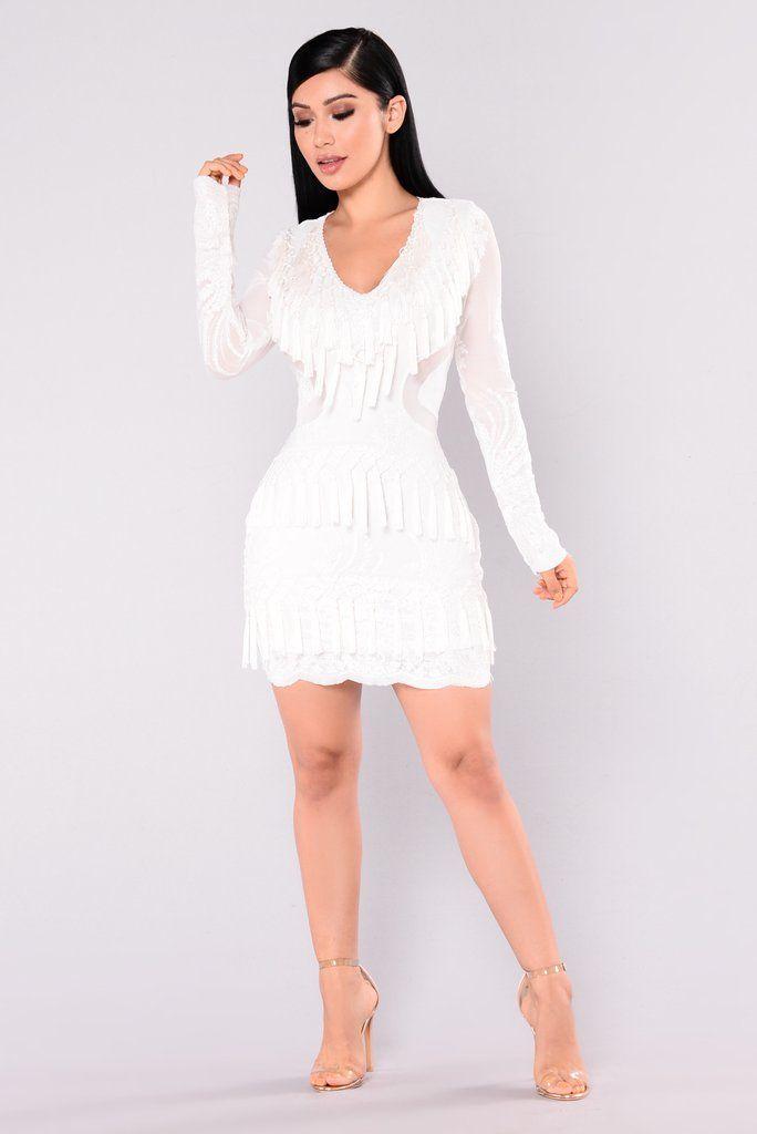 189f2ff694a Main Street Fringe Dress - White