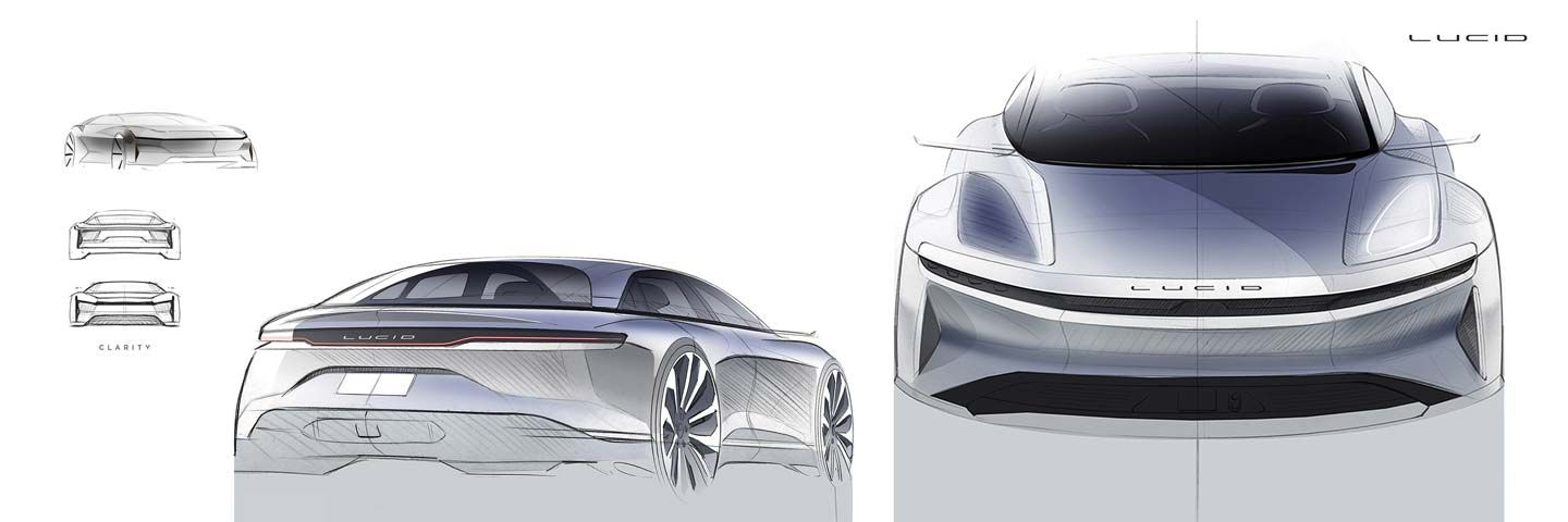 Designing The Lucid Air Part Two Lucid Sketch Design Car
