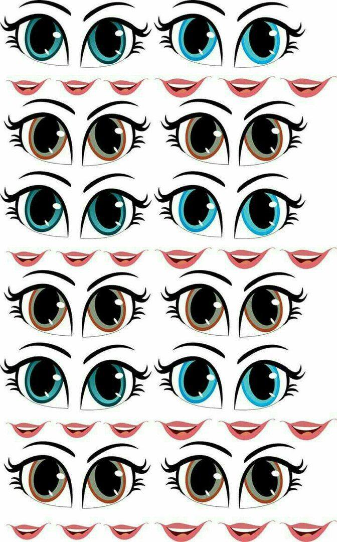 Красивые глазки картинка для поделки