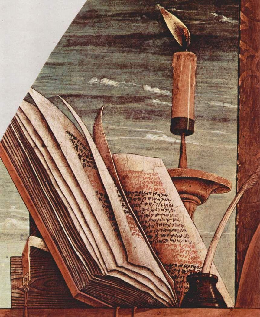 CARLO CRIVELLI (1435 – 1495) - Pietà (detail). Pinacoteca di Brera, Milan.