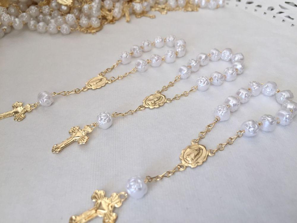25 Pc Mini Rosary PURPLE Baptism Favors// Recuerdo De Bautizo Communion Favors