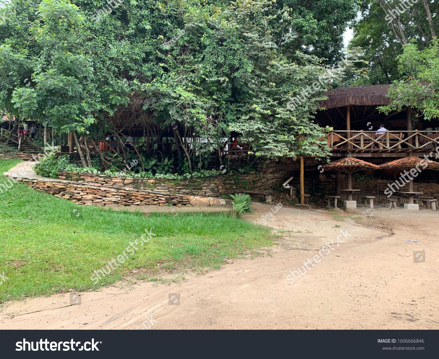 Pirenopolis, Goias, Brazil, January 7, 2020: Pedreiras Restaurant, a beautiful leisure area, a perfect place in the middle of nature and with excellent structure in the Brazilian tourist city. #Ad , #Aff, #Restaurant#Pedreiras#leisure#beautiful