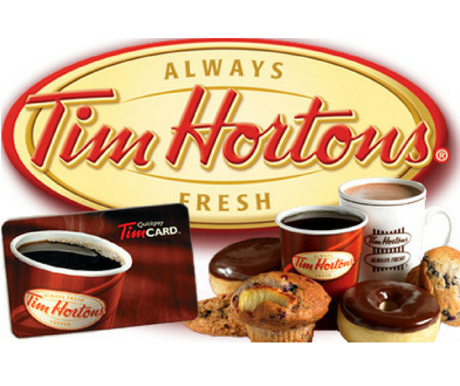 Free 50 Tim Hortons Gift Card being given away! Gift