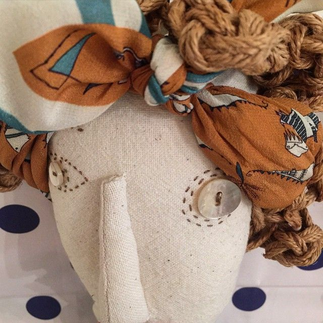 "silk Rumisu mini scarf in our ""Roarrr"" print & Rumisu display doll"