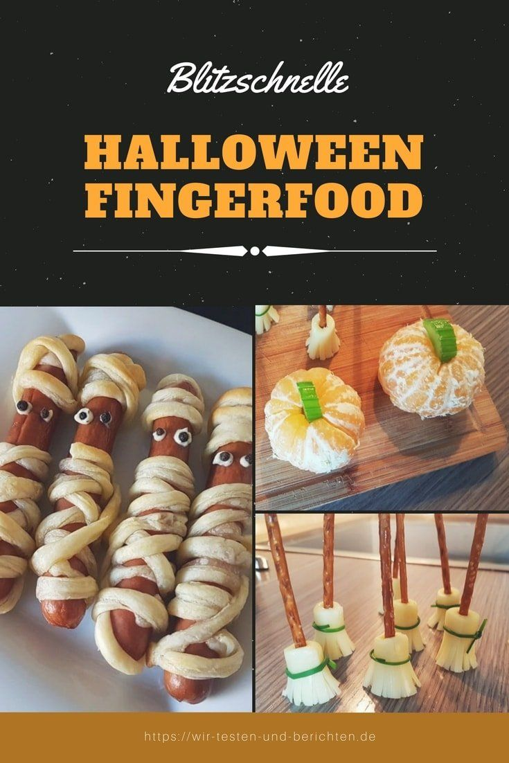 Fingerfood Snackideen für die Kinder Halloweenparty