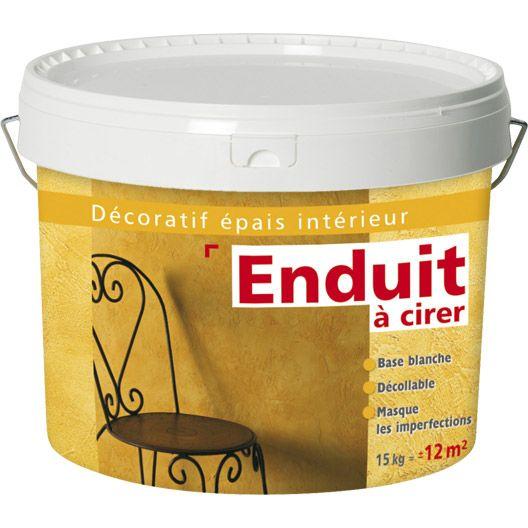 Enduit Decoratif A Cirer Les Decoratives Blanc 15 Kg Enduit Decoratif Enduit Enduit Interieur