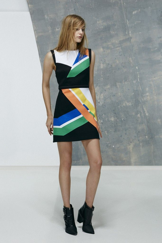 Collection inspired by data visualisation - NYC transit as print abstraction, tibi PF13