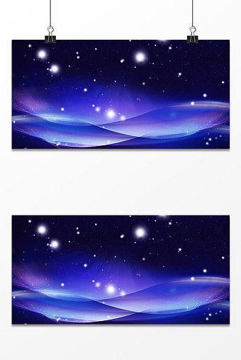 Blue Starry Sky Background