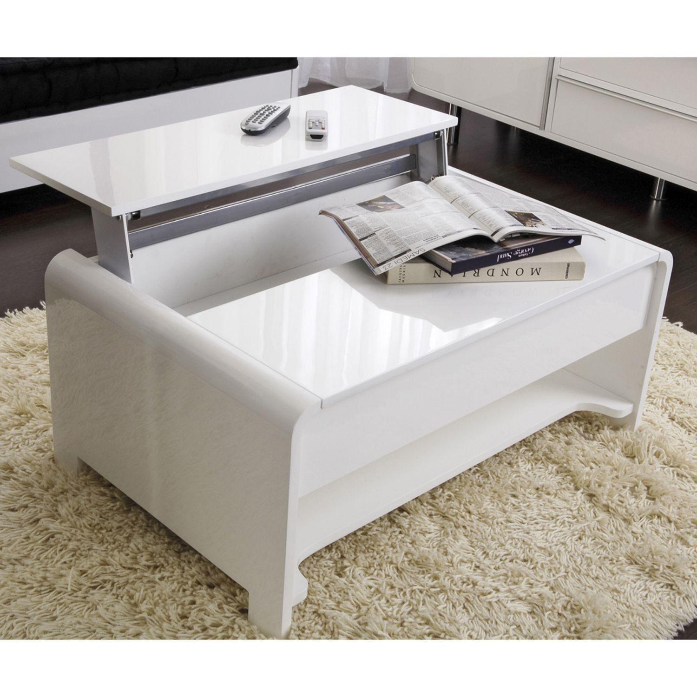 table basse rectangulaire laquée - longueur 90 cm largeur 60 cm
