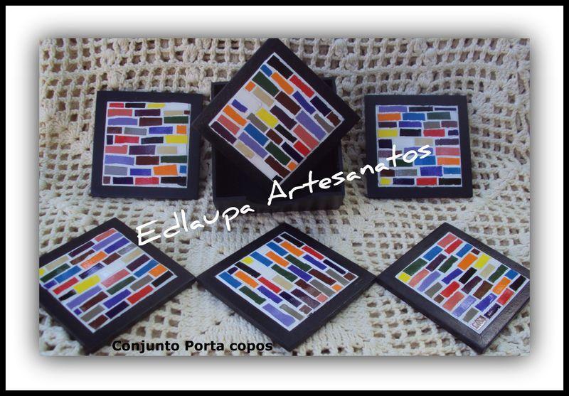 Porta copos em mosaico Ref: pcm 028. R$53.90