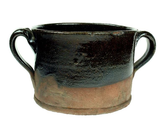 Red earthenware chamberpot found during excavations at HM Prison. It is said to have been made at Castleford in about 1740.