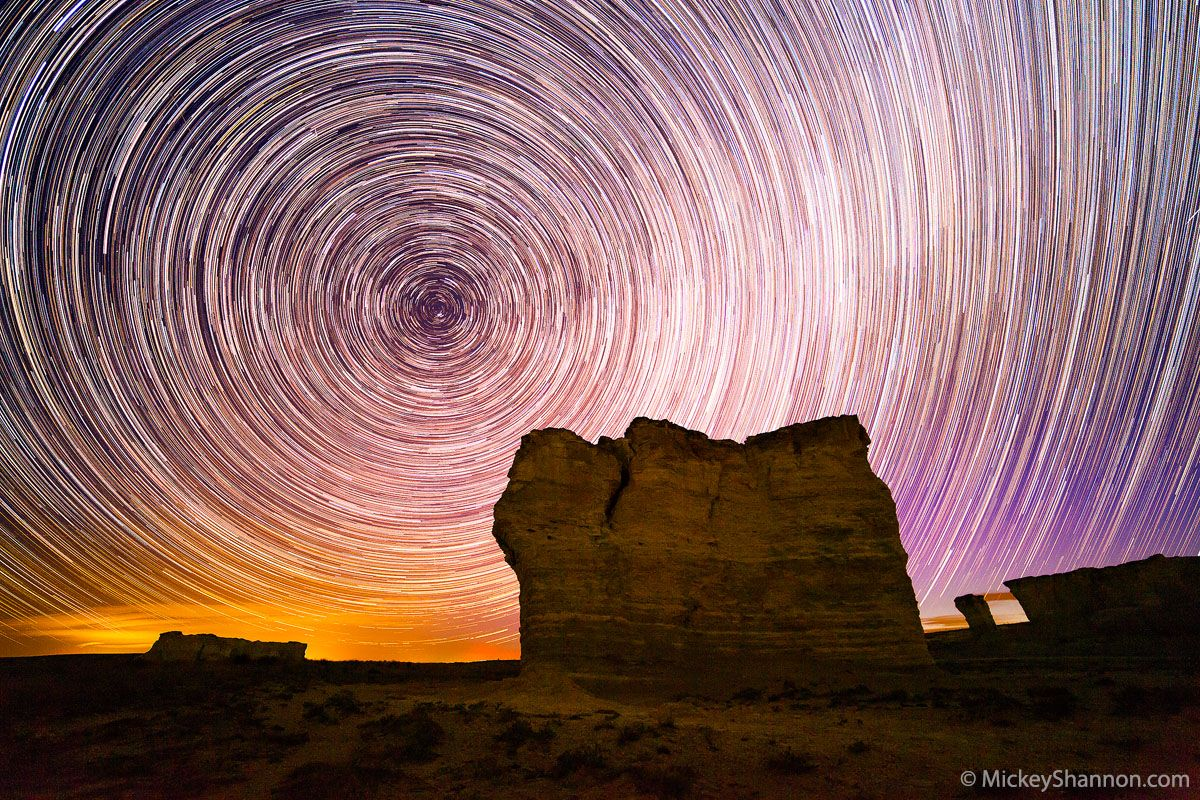Monument Rocks Star Trails By Mickey Shannon Photography With
