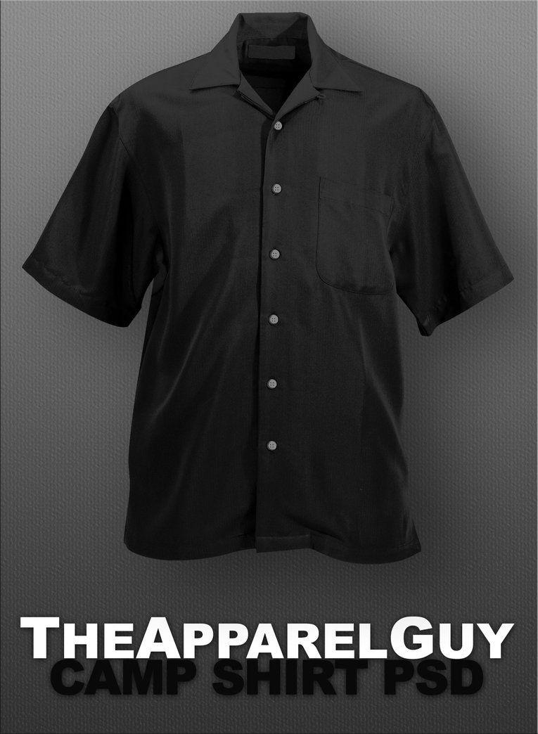 3f5190019 Camp Shirt PSD by TheApparelGuy.deviantart.com on  DeviantArt ...