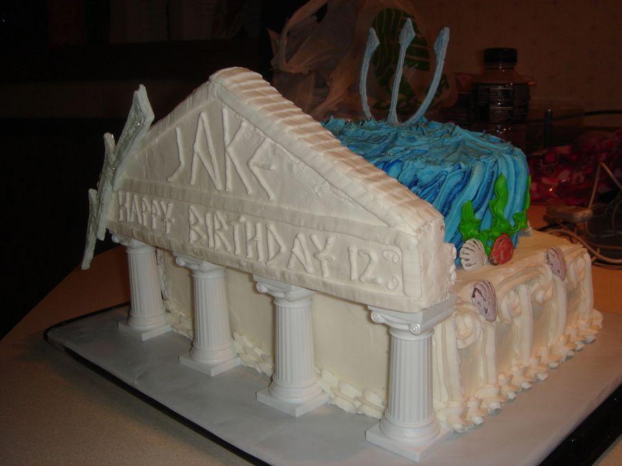 Percy Jacson Themed Cake Cakes Pinterest Cake Birthday Cakes
