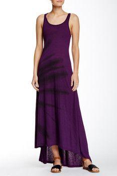 American Twist Hi-Lo Tie Dye Maxi Dress
