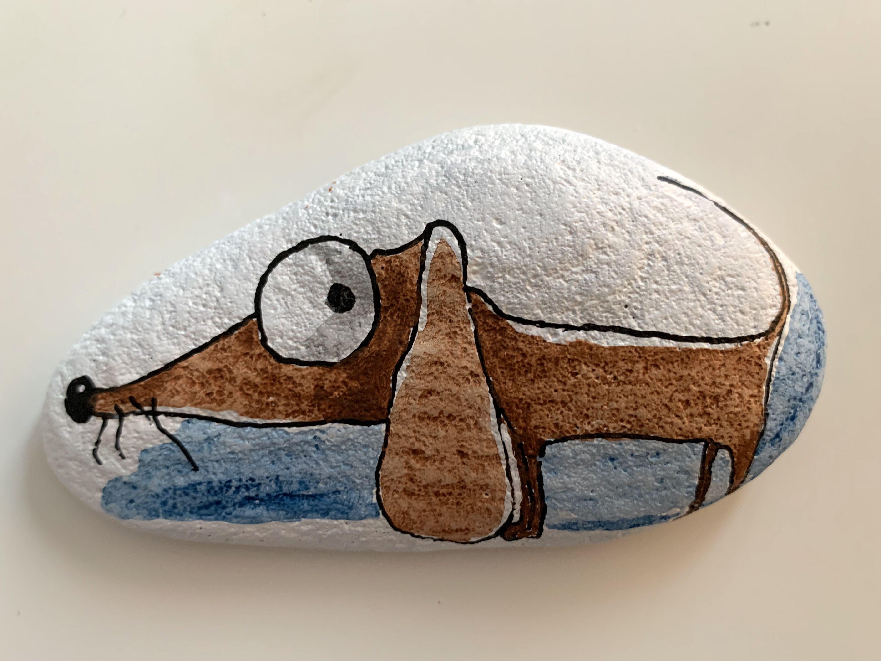 Steinmalerei - Rockart - Dackel