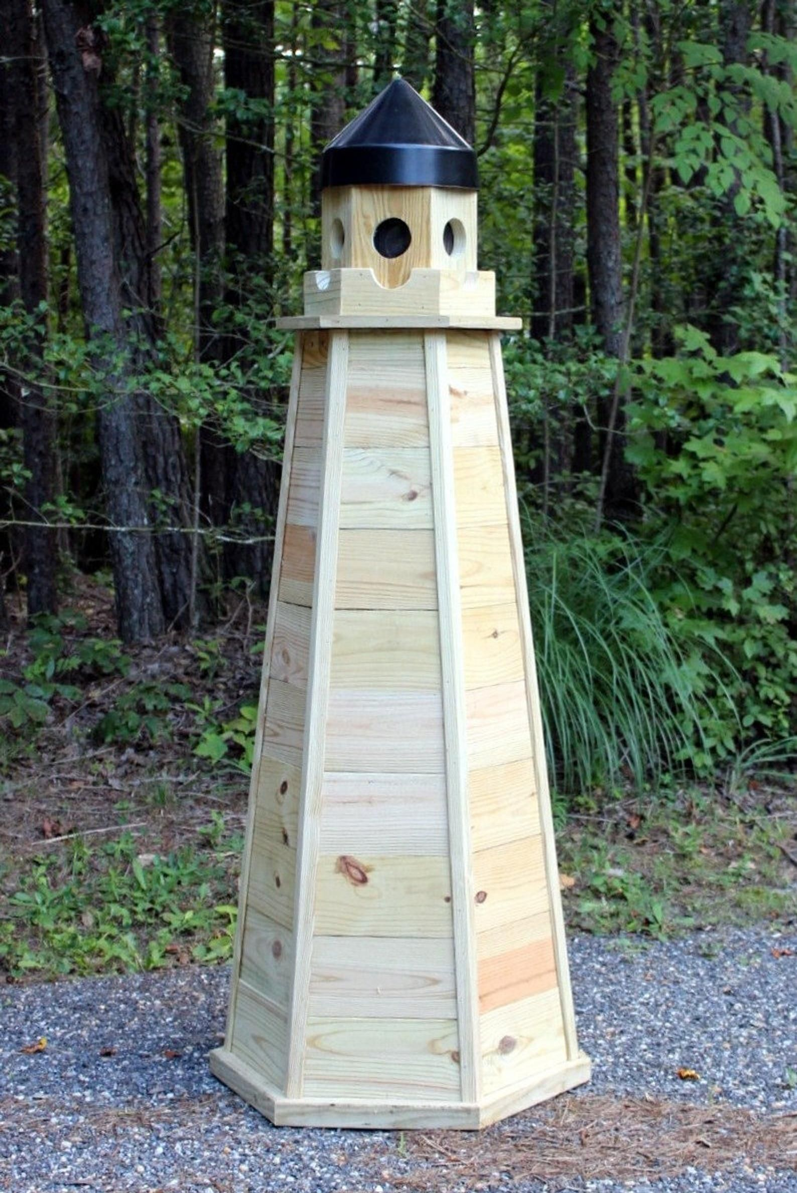 Illustrated with Photos! Downloadable Woodworking Plans 6 ft Lawn Lighthouse Plans