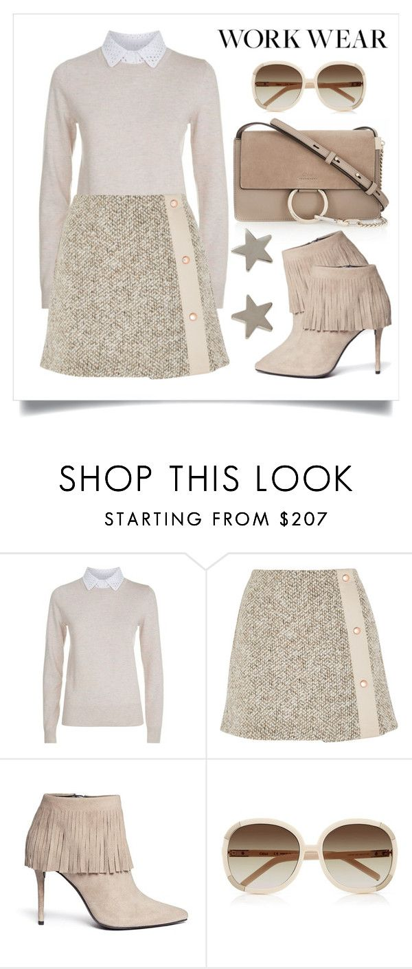 """""""Work Wear"""" by alaria ❤ liked on Polyvore featuring See by Chloé, Stuart Weitzman, Chloé and Jennifer Meyer Jewelry"""