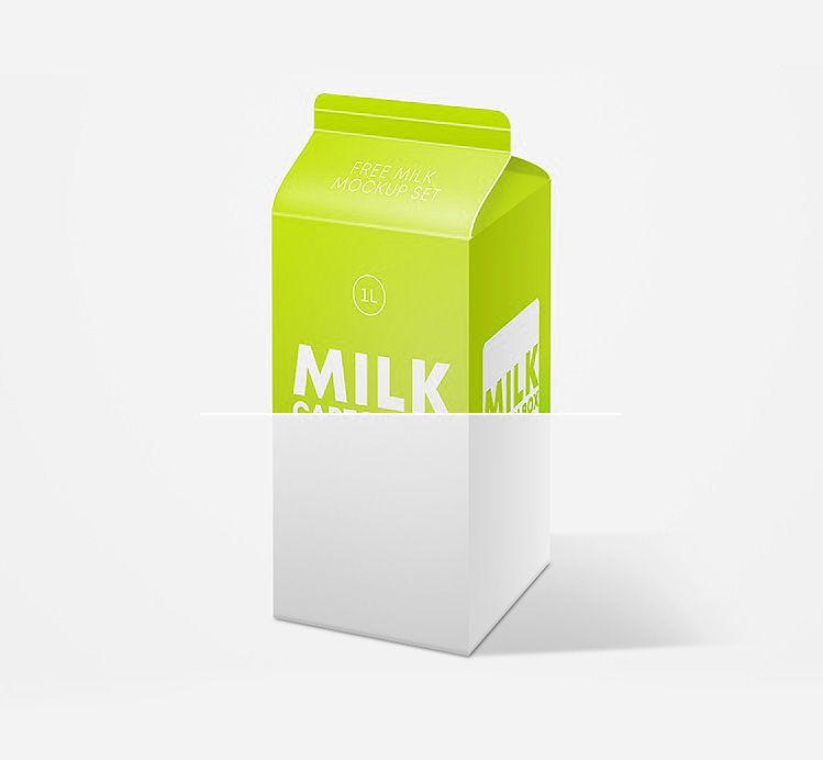 Download Download Free Milk Carton Box Mockup In Psd Box Mockup Mockup Free Psd Psd Freebies