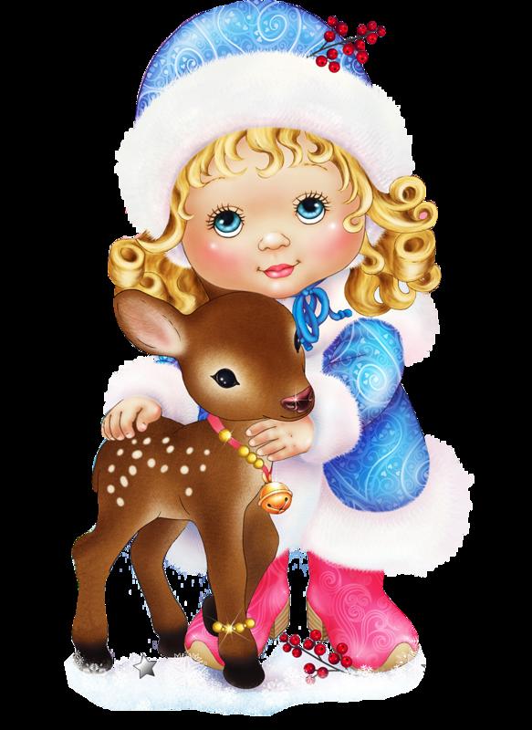 Никитском, новогодние открытки девочка