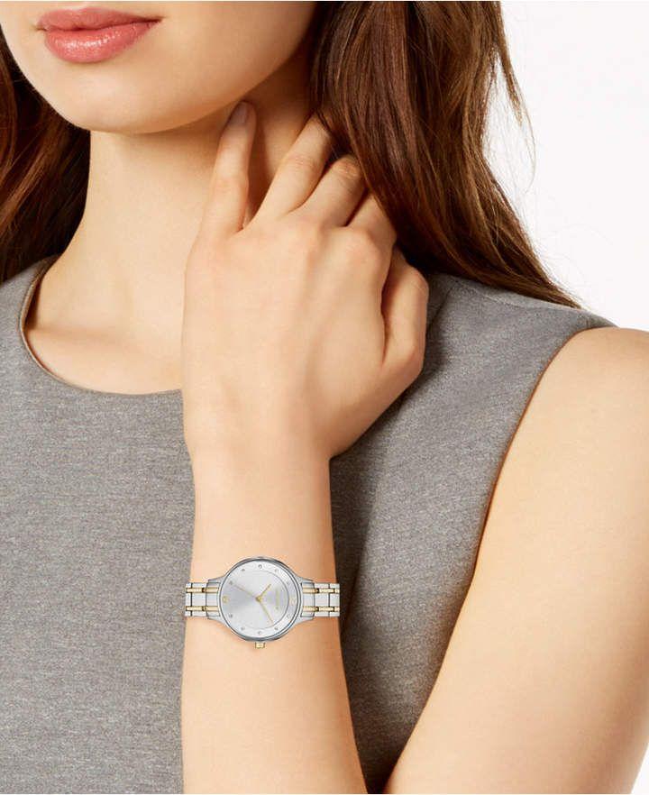 a65a6c176787b Skagen Women Anita Two-Tone Stainless Steel Bracelet Watch 30mm ...