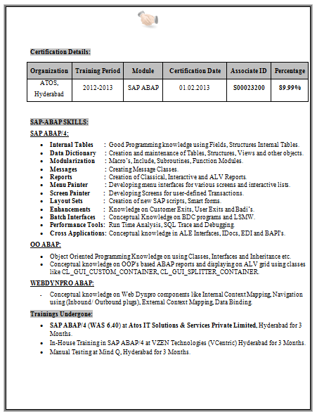 B Tech Eee Fresher Resume Sample   Career