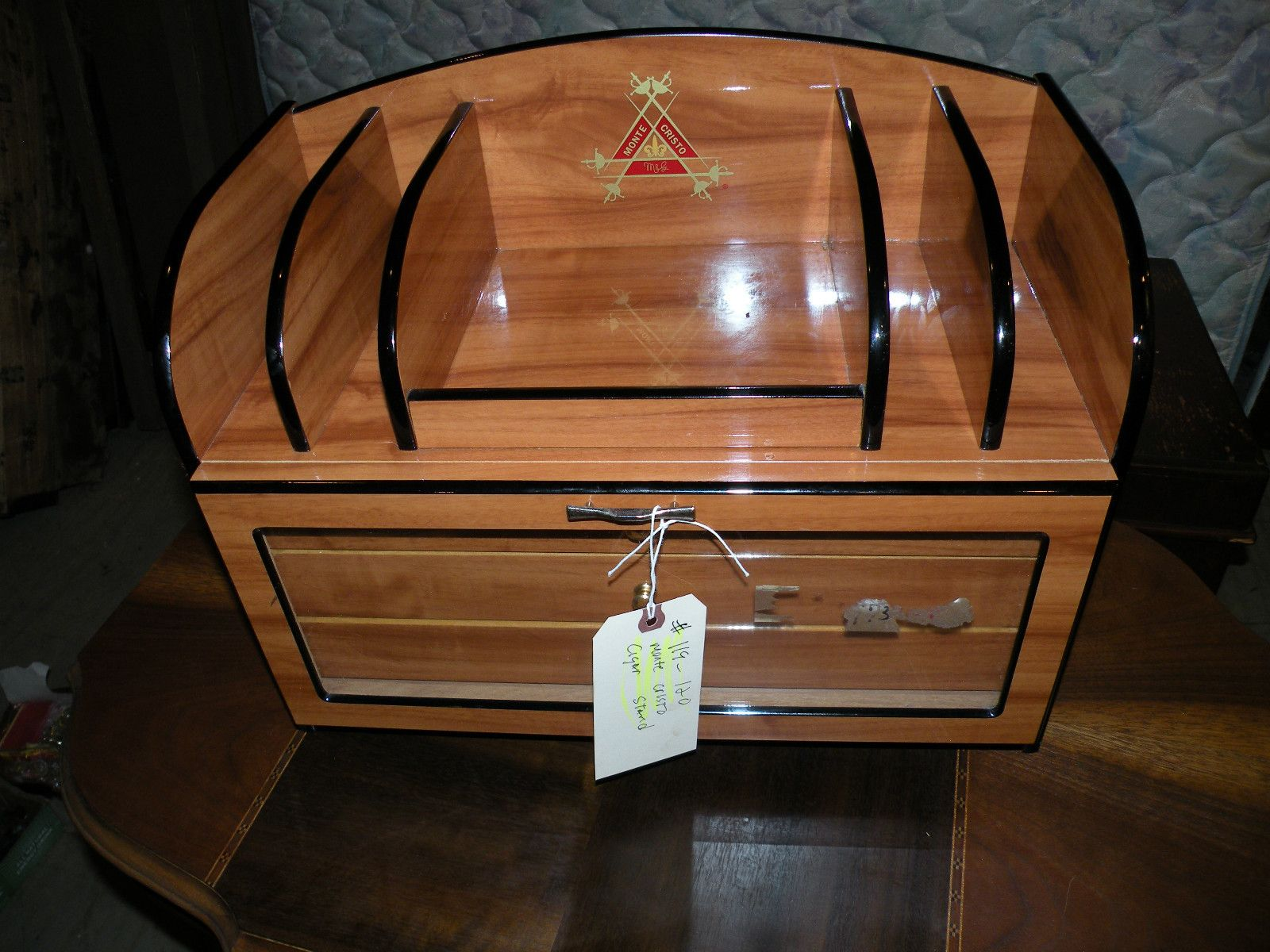 MONTECRISTO TABLE DESK TOP WOOD CIGAR HUMIDOR | EBay