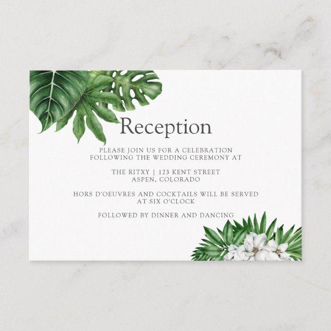 Tropical Greenery Geometric Wedding Reception Enclosure