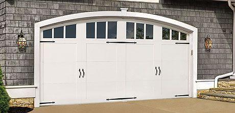 Wood Garage Door With Windows And Hardware 7000 Series